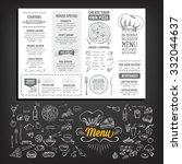 vector restaurant brochure ... | Shutterstock .eps vector #332044637
