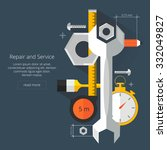 repair and service.home and... | Shutterstock .eps vector #332049827