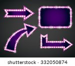 set of  pink violet arrows and... | Shutterstock .eps vector #332050874