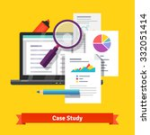 case study research concept.... | Shutterstock .eps vector #332051414