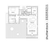 blueprint on white background.... | Shutterstock .eps vector #332053211