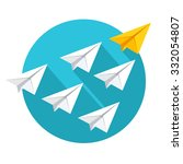 leadership and teamwork concept.... | Shutterstock .eps vector #332054807