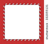 christmas candy cane frame | Shutterstock .eps vector #332055131