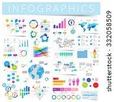 infographics with data icons ... | Shutterstock . vector #332058509