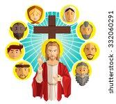 all saints day illustration   Shutterstock .eps vector #332060291