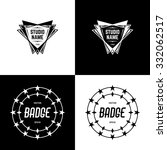 vector badges | Shutterstock .eps vector #332062517