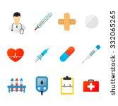 medical icons on white...   Shutterstock .eps vector #332065265