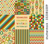 set of eight seamless abstract... | Shutterstock .eps vector #332081009