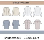 women blouses set | Shutterstock .eps vector #332081375