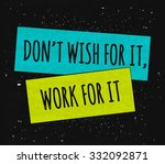 motivational quote... | Shutterstock .eps vector #332092871