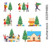 merry christmas and happy new... | Shutterstock .eps vector #332094881