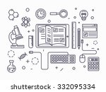 power of knowledge and computer ... | Shutterstock .eps vector #332095334