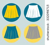 set of pleated skirts. vector. | Shutterstock .eps vector #332098715
