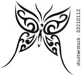 butterfly tribal tattoo | Shutterstock .eps vector #33210112