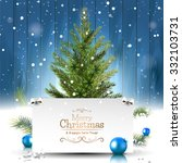 christmas greeting card with... | Shutterstock .eps vector #332103731