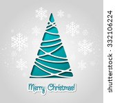 merry christmas tree greeting... | Shutterstock . vector #332106224