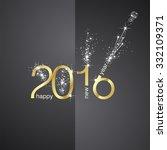 new year 2016 firework front... | Shutterstock .eps vector #332109371