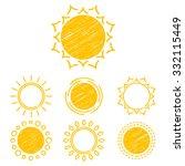 vector collection sun icons ... | Shutterstock .eps vector #332115449