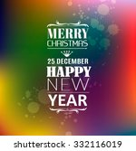 merry christmas background with ... | Shutterstock .eps vector #332116019