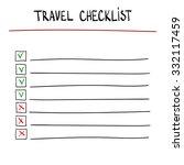 travel checklist at white... | Shutterstock .eps vector #332117459
