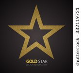textured gold elegant star.... | Shutterstock .eps vector #332119721