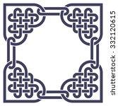 monochromatic celtic knot frame ... | Shutterstock .eps vector #332120615