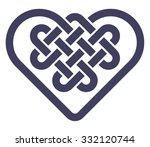 celtic heart shape knot vector... | Shutterstock .eps vector #332120744