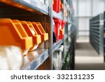 storage bins and racks for... | Shutterstock . vector #332131235
