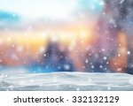 winter background with pile of... | Shutterstock . vector #332132129