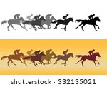 horse racing. competition.... | Shutterstock .eps vector #332135021
