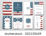 set of brochure  poster... | Shutterstock .eps vector #332135639