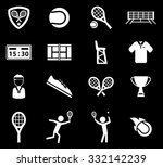 tennis icons | Shutterstock .eps vector #332142239