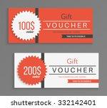 gift voucher template. vector... | Shutterstock .eps vector #332142401