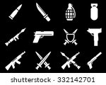 weapon icons | Shutterstock .eps vector #332142701