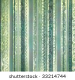 Blue And Green  Floral Embossed ...
