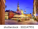 main square of the old town of... | Shutterstock . vector #332147951
