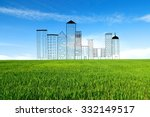 concept of a new residential... | Shutterstock . vector #332149517