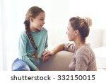 mom with her pre teen daughter... | Shutterstock . vector #332150015