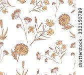 floral vintage pattern sketch....   Shutterstock .eps vector #332150789
