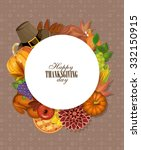 happy thanksgiving day greeting ... | Shutterstock .eps vector #332150915