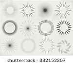 collection of vector  sunburst   Shutterstock .eps vector #332152307