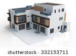 3d render of modern house on... | Shutterstock . vector #332153711