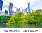 view of central park in new... | Shutterstock . vector #332153939