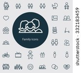 family icons vector set | Shutterstock .eps vector #332183459