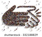 large and diverse group of... | Shutterstock . vector #332188829