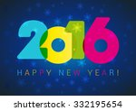 2016 new years old celebrating... | Shutterstock .eps vector #332195654