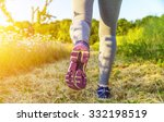 Fitness Girl Running In A Fiel...