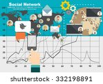 global social network abstract... | Shutterstock .eps vector #332198891