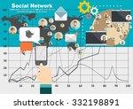 global social network abstract... | Shutterstock .eps vector #332198891