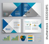 business brochure template... | Shutterstock .eps vector #332201891